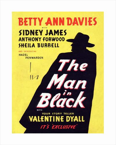 Man In Black Handbill by Anonymous