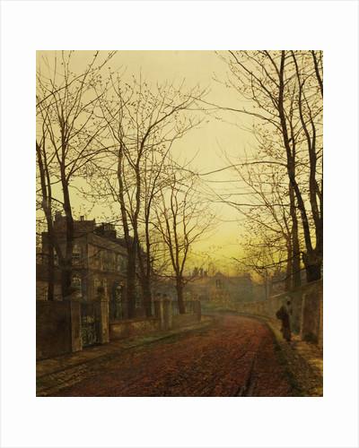An Autumn Idyll by John Atkinson Grimshaw