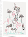 Pink Flamingos by Susie Wright
