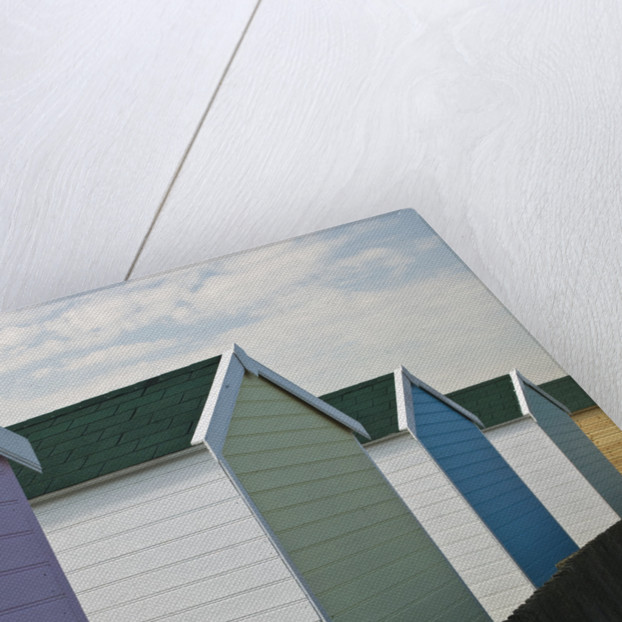 Beach huts in a row, close-up by Assaf Frank
