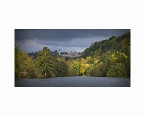 Cliveden house from the river Thames at Autumn, Berkshire, UK by Assaf Frank