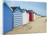 Beach huts in a row by Assaf Frank
