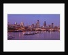 London skyline, river thames and Blackfriars bridge at dusk by Assaf Frank