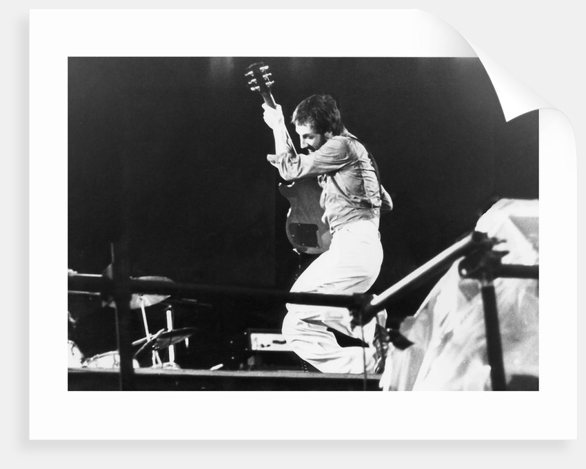 The Who - Pete Townsend at Parkhead, Glasgow 1976 (2) by Steve Thomson