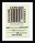 Legalise Cannabis Poster by Rokpool
