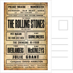 Rolling Stones Palace Theatre Poster by Rokpool