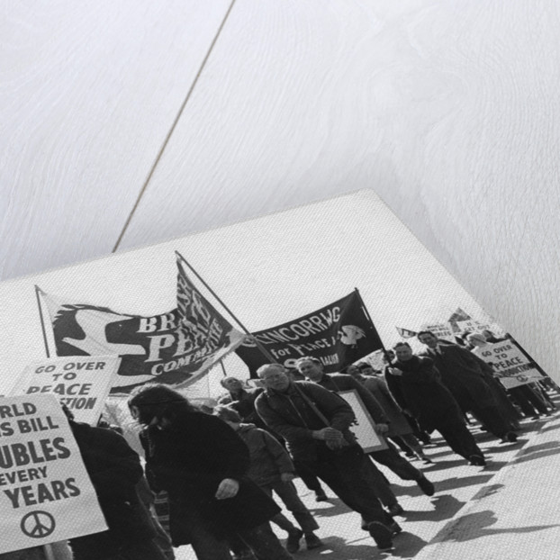 CND demo, Horley, Surrey, c1969 by Tony Boxall