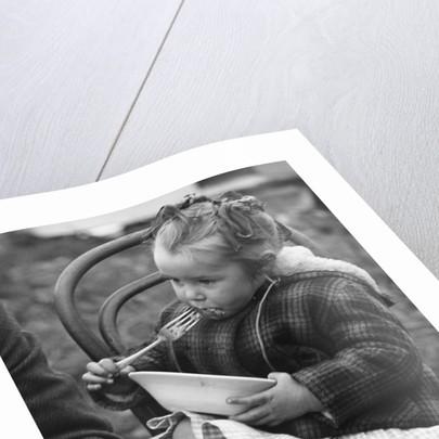 Gypsy girl eating, 1960s by Tony Boxall