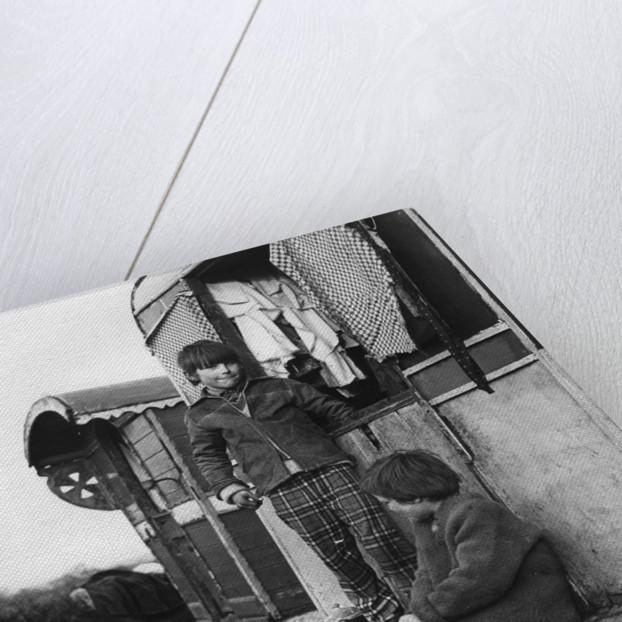 Gypsy boys playing, 1960s by Tony Boxall