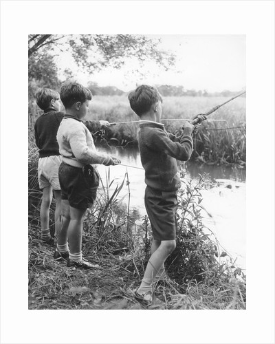 Boys fishing, c1960s by Tony Boxall