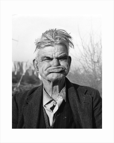 Gipsy pulling a 'gurney face', Lewes, Sussex, 1964 by Tony Boxall
