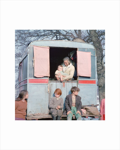 Members of the Vincent family, gipsies, Charlwood, Newdigate area, Surrey, 1964 by Tony Boxall
