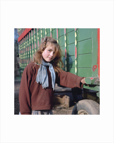 Gipsy girl, member of the Vincent family, Charlwood, Newdigate area, Surrey, 1964 by Tony Boxall