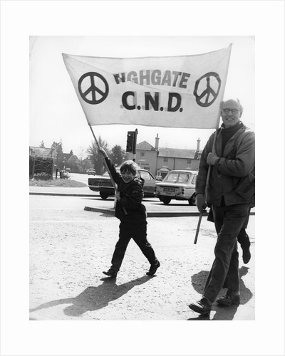 CND demo, Horley, Surrey, c1968 by Tony Boxall