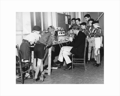 Boy scouts learning radio transmitting, 1960s by Tony Boxall