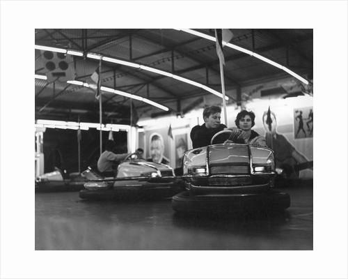 Couple on dodgems, c1960 by Tony Boxall