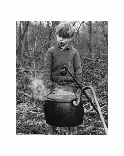 Gypsy boy with cauldron, 1960s by Tony Boxall