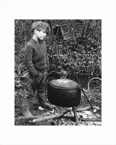 Gypsy boy with cauldron, 1960s by Tony Boxall