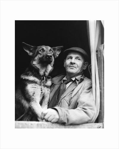 Gypsy man with dog, 1960s by Tony Boxall