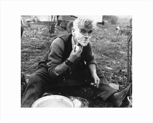 Gypsy man shaving, 1960s by Tony Boxall