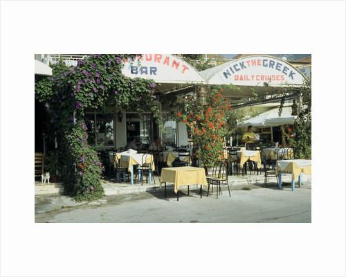 Taverna, Nidri, Levkas, Greece by Tony Boxall