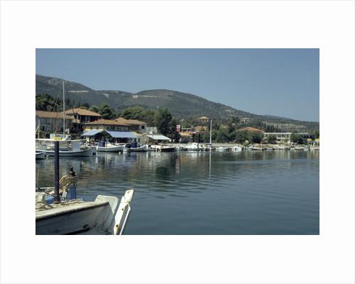 Harbour, Ligia, Lefkas, Greece by Tony Boxall