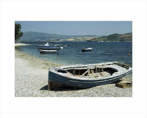 Harbour, Ligia, Levkas, Greece by Tony Boxall