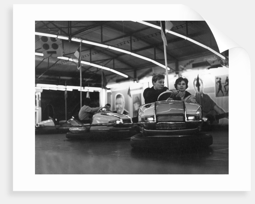 Couple on dodgems, c1960 by Tony Boxall