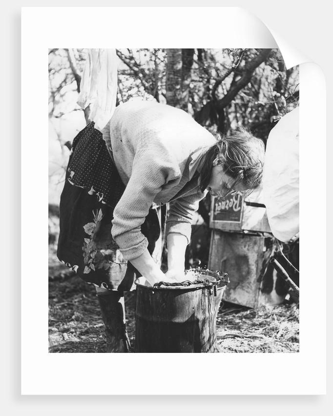 Gypsy woman washing clothes, 1960s by Tony Boxall