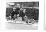 Boys playing with a home-made go-kart, Horley, Surrey, 1965 by Tony Boxall