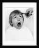 Boy having a haircut, 1988 by Tony Boxall