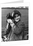 Gipsy girl holding a chicken, 1960s by Tony Boxall