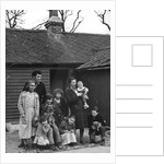 Travelling gipsy family re-housed in a bungalow, Beare Green, Surrey, 1964 by Tony Boxall