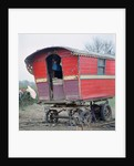 Caravan of the Vincent family, gipsies, Charlwood, Newdigate area, Surrey, 1964 by Tony Boxall