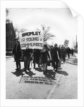 Members of Bromley Young Communists leading a CND demonstration, Horley, Surrey, c1964-1970 by Tony Boxall