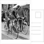 Cyclists, Brugge, Belgium, c1960s by Tony Boxall