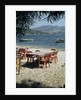 Harbour taverna, Ligia, Levkas, Greece by Tony Boxall