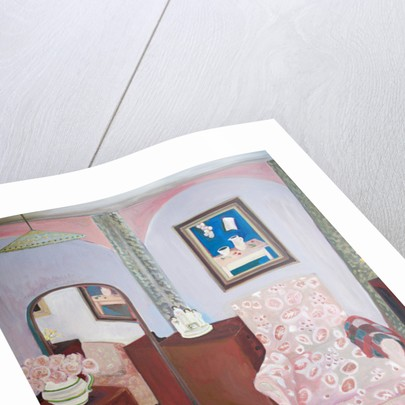Charleston - Bedroom with Staffordshire Figurine by Lottie Cole