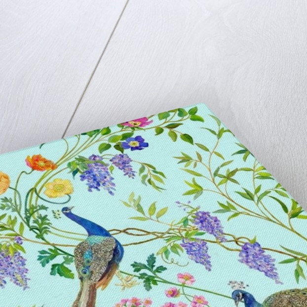 Peacock Chinoiserie Surface-fabric design by Kimberly McSparran