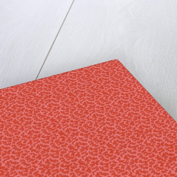 Gibweed coral, allover textile-surface design by Kimberly McSparran