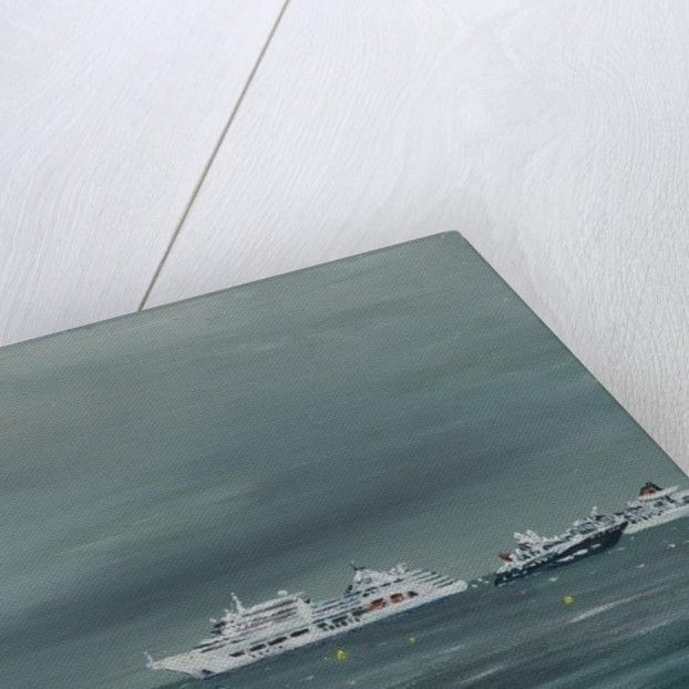 Ships and boats at Cannes by Vincent Alexander Booth