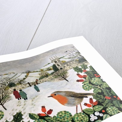 Robin and Churchgoers by Vanessa Bowman