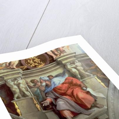 Sistine Chapel Ceiling: The Prophet Ezekiel, 1510 by Michelangelo Buonarroti