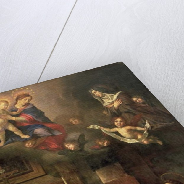 The Virgin appearing to St. Louis of Toulouse by Carlo Dolci