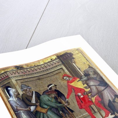 The Charity of St. Anthony Abbot by Master of the Rinuccini Chapel