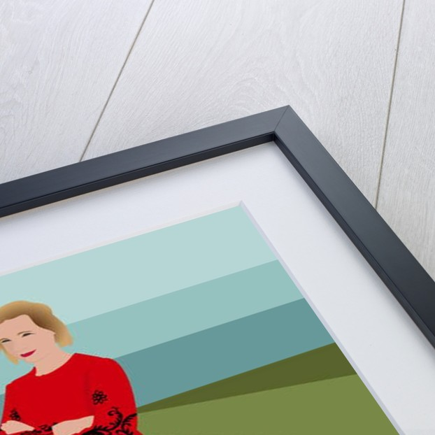 Portrait of Lucy Worsley by Claire Huntley