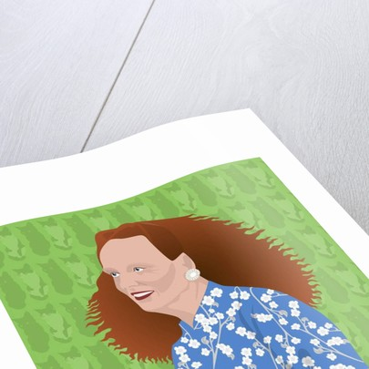 Portrait of Grace Coddington, Creative Director of US Vogue by Claire Huntley