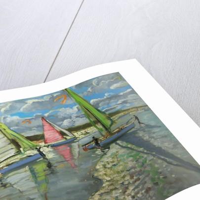 Three Sailboats, Bray Dunes, France by Andrew Macara