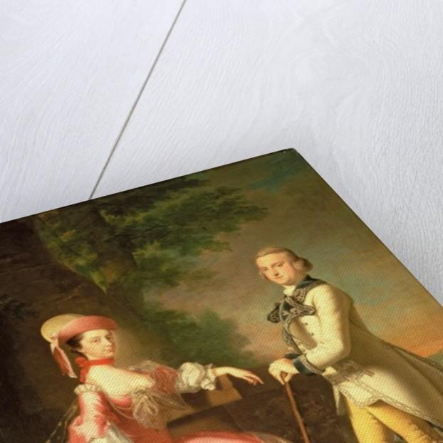 Sir John Pole, 5th Baronet, and his Wife, Elizabeth by Thomas Hudson
