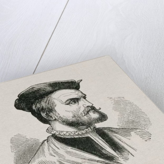 Jacques Cartier illustration from Volume IV of 'Narrative and Critical History of America' by English School